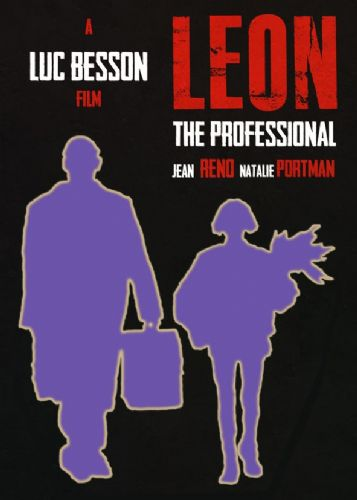 1990's Movie - LEON - MINIMAL POSTER canvas print - self adhesive poster - photo print